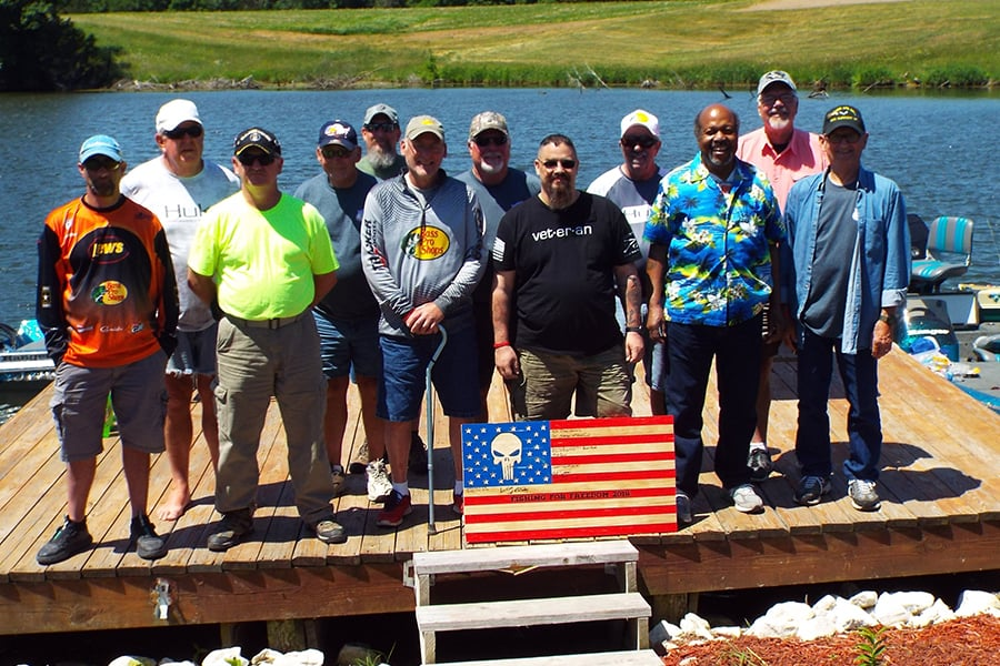Veterans at Fishing for Freedom Event